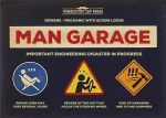 Ministry of Men Mechanic Wall Sign Garage Plaque 15 x 20 cm